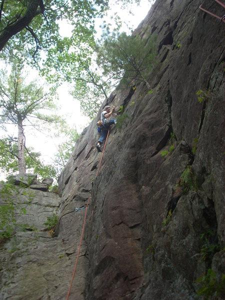 Rock Climbing Photo: Rhoads on right hand variation of P Crack.