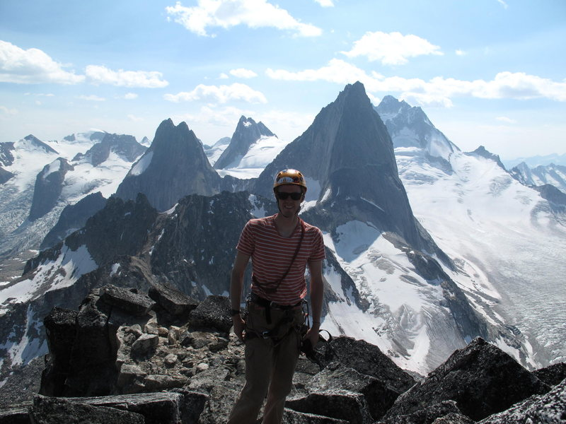 summit of Brenta Spire after climbing SE Shoulder variation, Bugaboos August 2010