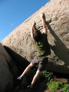 "Rock Climbing Photo: mike gives his shadow a ""high-ten"" and b..."