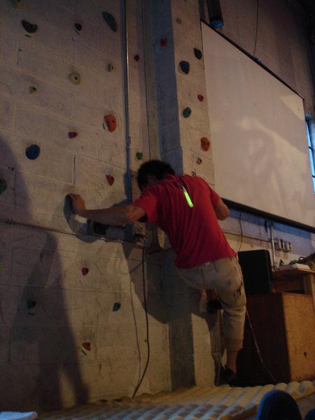 "Rock Climbing Photo: ""cosmic bouldering"" at the hanta haus, s..."