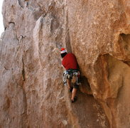 Rock Climbing Photo: abandoning my good crack technique and settling fo...