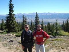 Rock Climbing Photo: Mt. Elbert with my brother