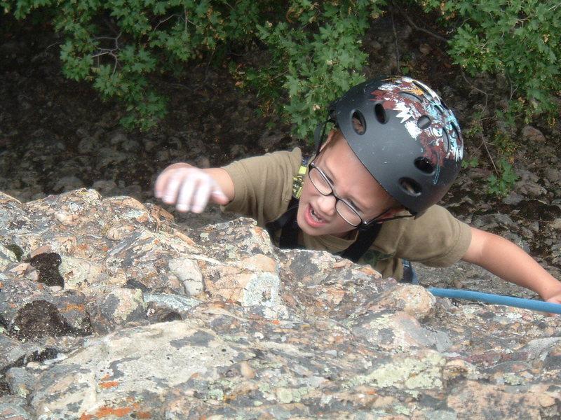 Rock Climbing Photo: game face