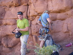 Rock Climbing Photo: me and nick gearing up for ecco pinnacle