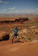 Rock Climbing Photo: niku at the top of ecco pinnacle