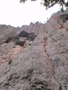 Rock Climbing Photo: Some of the routes at the Bend, West. 1 - Tiers, ....