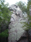 Rock Climbing Photo: PB starts on the face and follows the corner to th...