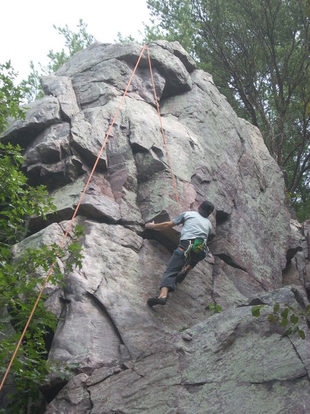 Rock Climbing Photo: Remo on the start.