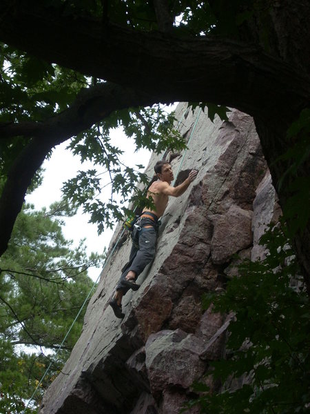 Remo, past crux, post wobble.