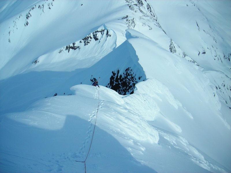 Fun ridge climbing.
