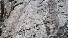 Rock Climbing Photo: Raspberry route is where the rope hangs.Small hold...
