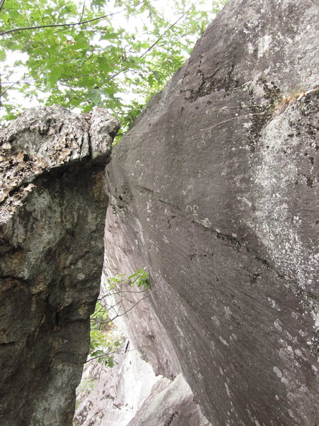 Rock Climbing Photo: The start of the bolted section.