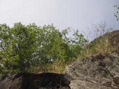 Rock Climbing Photo: The top cap rock.