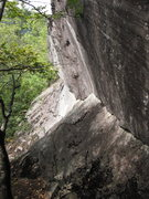 Rock Climbing Photo: Looking down at 'Jimmy Crack Corn'.