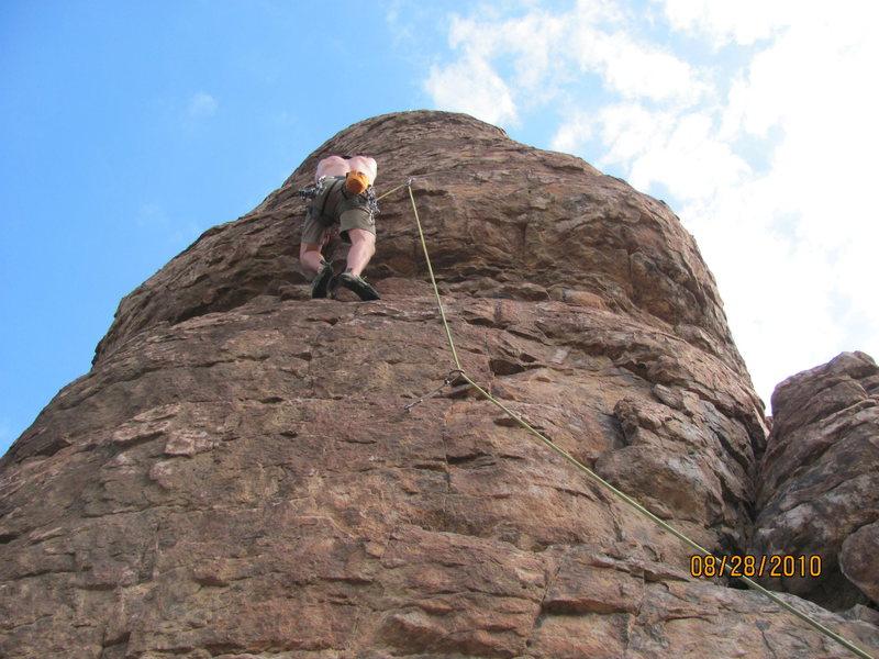 Rock Climbing Photo: brad on cow poke