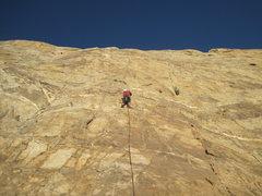 Rock Climbing Photo: At the first bolt