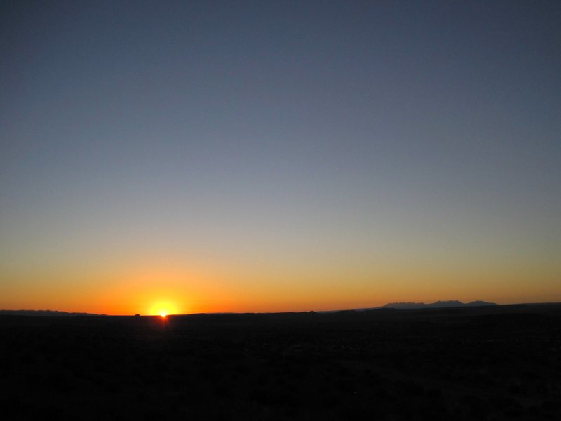 Dawn from the slabs .. towards La Sal mountains