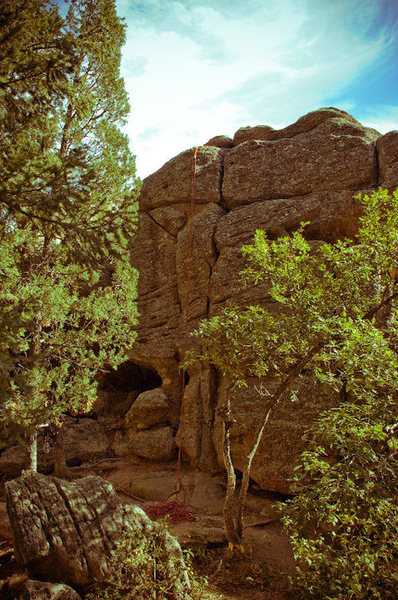Un-named route, Grocery Store Walls, Castlewood Canyon, CO.
