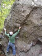 Rock Climbing Photo: Move to the spike.