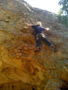 Rock Climbing Photo: Crux of Logjammin'