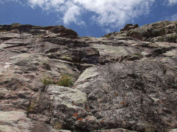 Rock Climbing Photo: View up from the western base.