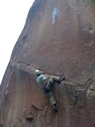 Rock Climbing Photo: The Good Doctor traversing the rail.