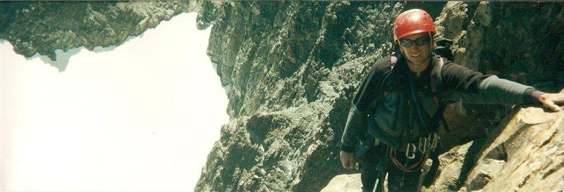 Rock Climbing Photo: Ian Albee in the Sierras