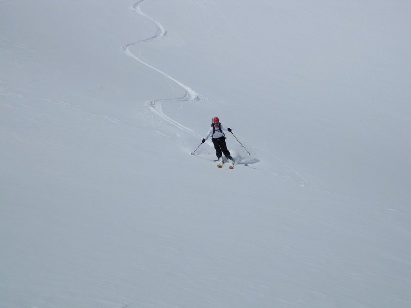 Rock Climbing Photo: Nice ski down
