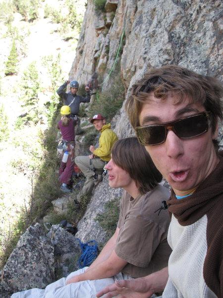 Rock Climbing Photo: Starting up Trooper's Traverse.