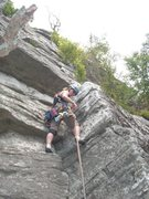 Rock Climbing Photo: Heather leading Minty, Gunks