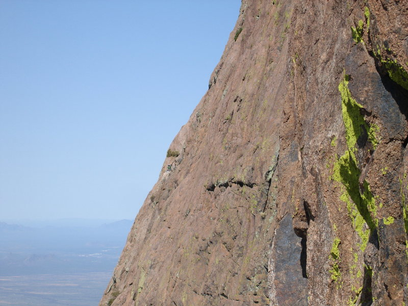 Rock Climbing Photo: Taken by David Tilley from the SE Arete.  I am vis...