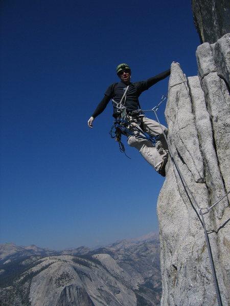 Rock Climbing Photo: Nearing Big Sandy Ledge, P17.