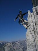 Rock Climbing Photo: Nearing Big Sandy Ledge, P17.