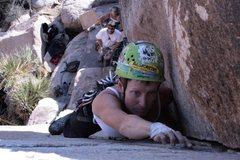Rock Climbing Photo: Mary leading False Classic Corner.