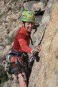 Rock Climbing Photo: Mary Moser leading Wheelbarrow.