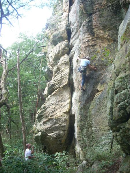 Kinda a cool shot on a bad climb :(