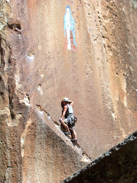 Rock Climbing Photo: Walking the traverse.