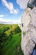 Rock Climbing Photo: Wielki Grochowiec crag. Southern Poland. Sept. 200...