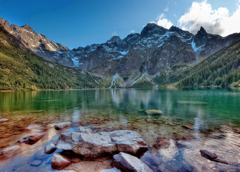 Morskie Oko Lake. Polish Tatras. Sept. 2009.