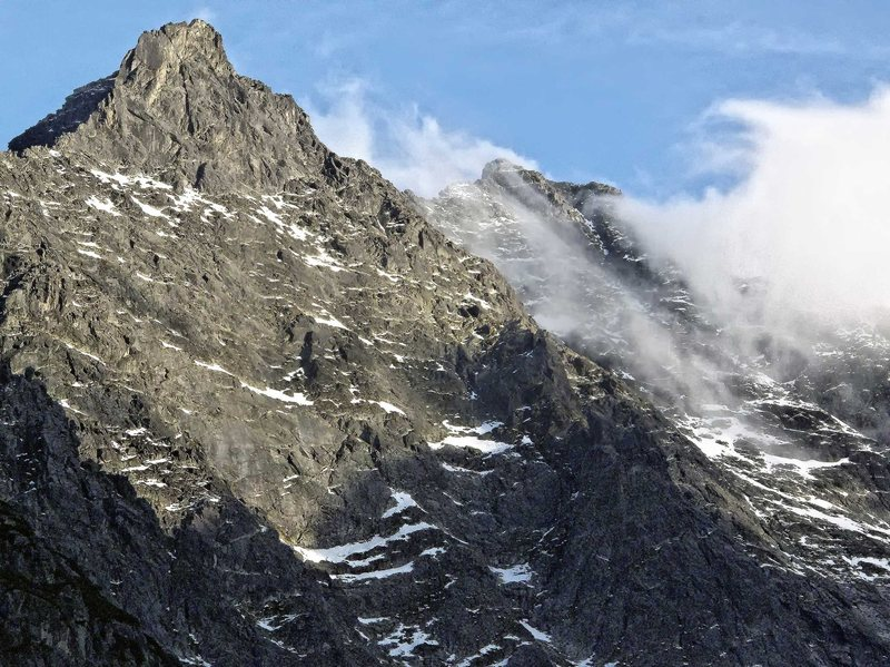 Rock Climbing Photo: Rysy and Nizne Rysy peaks. Polsih Tatras. Sept. 20...