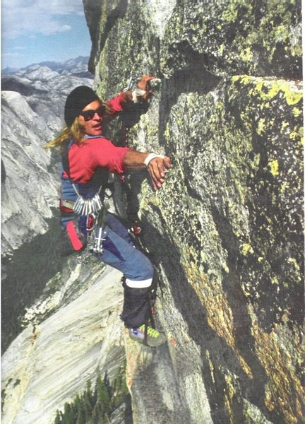 David Lee Roth on NW face of Half Dome