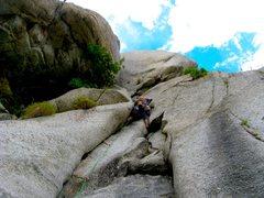 Rock Climbing Photo: myself on the first Pitch. fun start