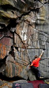 Rock Climbing Photo: Jak Patchen catching a rest in the beautiful Slick...
