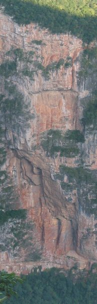 Rock Climbing Photo: Photo of the route Hombres del Panuelo Rojo.