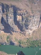 "Rock Climbing Photo: Photo taken of the route ""Hombres del Panuelo..."
