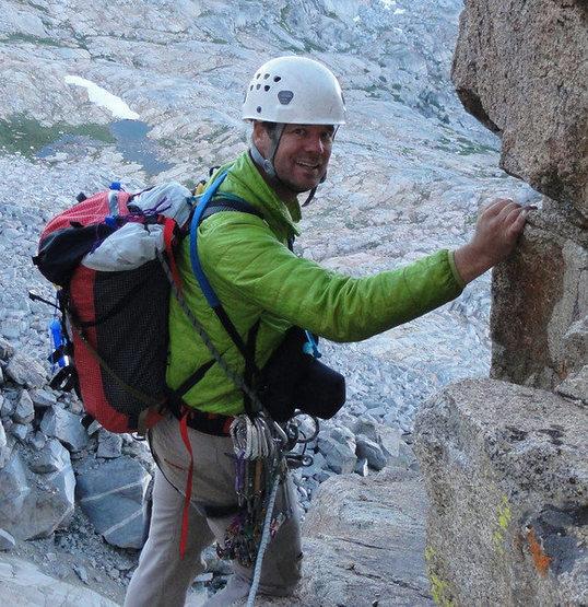 Me on North Palisade Peak, Sierra Nevada.