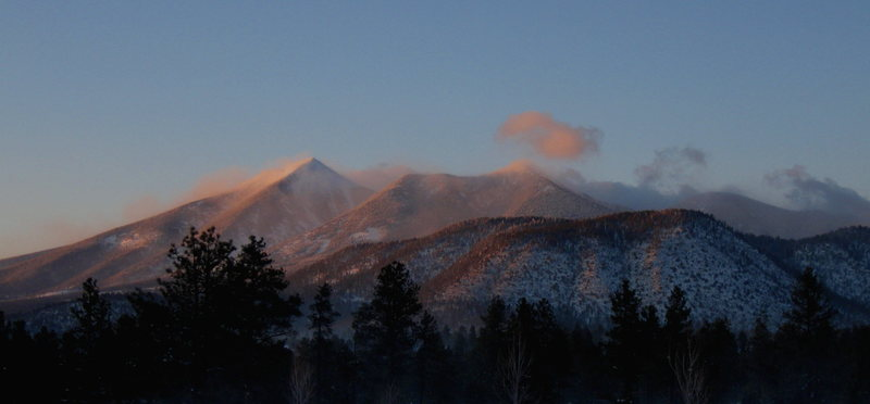 Well, you can't actually see Humphrey's Peak, but this is a shot I took quickly in the winter of 09/10