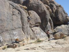 Rock Climbing Photo: Carlo Rivas climbing Mickey's Easy Corner(5.2 vari...