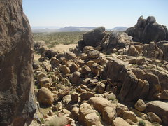 Rock Climbing Photo: Looking east from Mickey's Wall, Ghost Boulders, J...