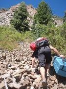 Rock Climbing Photo: the approach was harder than the climbing.  gettin...